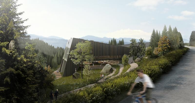 Rendering Wettbewerb Nationalpark Norwschwarzwald Besucherzentrum